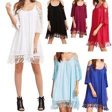 Vestito Copricostume Mini Abito Donna Caftano Mini Dress Cover up COV0037 P
