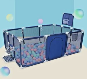Baby Playpen Play Toddler Safety Center Activity Center  Foldable Kid Yard Ball