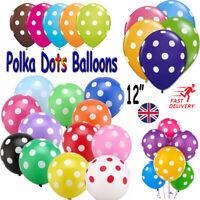 10 -100 Polka Dot Latex Helium Spotty Balloons Quality Party Birthday Wedding UK