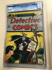 Detective Comics #80 1943 CGC 5.5 Ow/White pages Two Face Cover