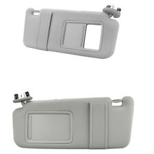 Pair Sun Visor Left & Right for 2007-2011 Toyota Camry With Vanity Light GRAY