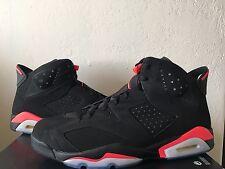 Nike Air Jordan 6 VI Retro Black Suede Infrared 384664-023 Men's Size 17 B Grade