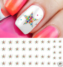 Colorful Stars Nail Art Waterslide Decals - Salon Quality!