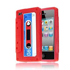 RETRO VINTAGE CASSETTE TAPE SOFT SILICONE IMPACT CASE FOR APPLE IPHONE 4 / 4S