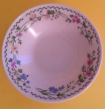 "Farberware Stoneware English Garden Pink Blue Flowers Soup/ Cereal Bowl 7 1/2"" D"
