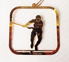 US Olympics Men's Field Hockey Brass Ornament Christmas USOC 1988 NEW OLD STOCK