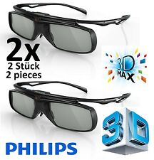 2 x Philips Active 3D glasses PTA509 3D Max TVs PTA509/00 genuine neu 3D Brille