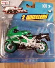 MAISTO 1:18 Kawasaki Ninja FRESH METAL 2 WHEELERS MOTORCYCLES *BRAND NEW*