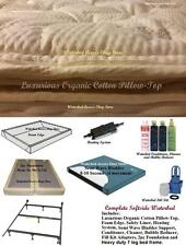 SOFTSIDE WATERBED w/ Cotton Pillow Top & Semi Wave Mattress in Full & Double Sz.