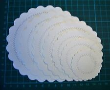 Scalloped Embossed Circle Layering Die Cuts - with stitch lines - BLACK