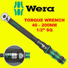 "WERA 1/2"" Click-Torque-C-3 Calibrated Adjustable 40Nm To 200Nm Wrench, 075622"