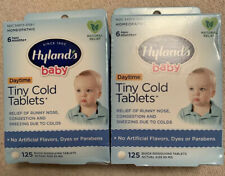 2 Hylands Baby Homeopathic Tiny Cold Tablets 125 Tablets (Total 250) Congestion