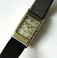 Vintage Elgin Men's Wristwatch 15 jewels 14K gold filled case RUNS