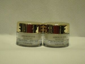 2 Lancome Absolue Eye Premium Bx Absolute Replenishing Eye Cream 0.2oz X2 = .4oz