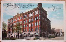 1920 Postcard: Gem City Business College - Quincy, Illinois Il Ill