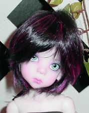 "DOLL Wig, Monique Gold ""Buttercup"" Size 5/6  Off Black w Pink (Great Unisex Wig)"