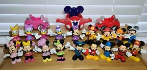 LOT Of 18 Disney Mickey Mouse Clubhouse Figures & 3 Vehicles Minnie Daisy