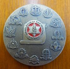 Vintage Israel Disabled War Veterans All Around Round Metal Medal Medallion