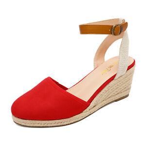DREAM PAIRS Women's Ankle Strap Espadrilles Platform Wedge Sandals Dress Shoes