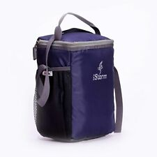 Unisex Lunch Bag Polyester Large Navy Blue And Grey Color For Storage