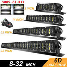 "Dual Row 8"" 14"" 22"" 32"" Led Light Bar Driving Offroad Lamp SUV 4WD Truck 12V 24V"