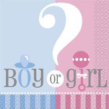 Baby Shower Party GENDER REVEAL OF BOY OR GIRL BEVERAGE COCKTAIL NAPKINS
