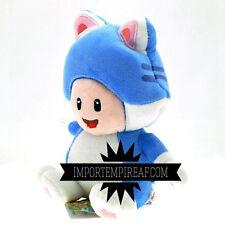 SUPER MARIO 3D WORLD CAT TOAD PELUCHE blu wiiu pupazzo new plush gatto blue neko