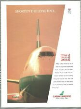 1992 CATHAY PACIFIC advertisement, Boeing 747, Canadian print ad
