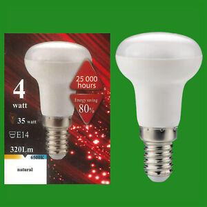 6x 4W (=35W) LED R39 Reflector Pearl 6500K SES E14 Edison Screw Light Bulb Lamp