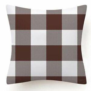 """Plaid PILLOW COVER Buffalo Check Checkered Home Decor Farmhouse Cushion Case 18"""""""