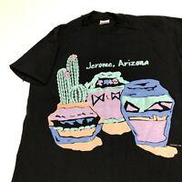 Jerome Arizona T Shirt Adult M Black Cactus Desert Southwest Vintage 90s USA