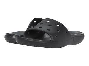 Men Crocs Classic Slide Sandal 206121-001 Black 100% Authentic Brand New