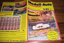 MODELL-AUTO 3/1983 - Mercedes 500 SE / Diorama Eisenbahnunglück / Unimog-Lastzug