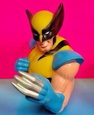 "UNCANNY X-MEN Figure Wolverine Coin Bank plastic 8"" tall 1999 Marvel Rare Logan"