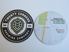 Beer Breweriana Pub Coaster ~ TWENTY CORNERS Brewing ~ Woodinville, WASHINGTON