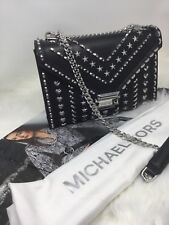 Michael Kors Whitney Silver Studded  Shoulder Bag