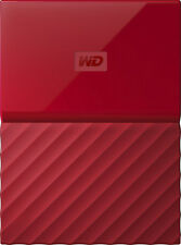 WD - My Passport 3TB External USB 3.0 Portable Hard Drive - Red