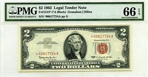$2 1963 LEGAL TENDER STAR NOTE F 1513 * GEM UNC LUCKY MONEY VALUE $720