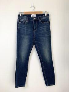 Current Elliott The High Waist Stiletto Cropped Skinny Denim Jeans Size 28 30