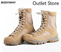 Army Men Combat Tactical Outdoor Hiking Desert Leather Ankle Boots Military Shoe