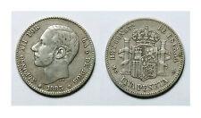 ESPAÑA.  ALFONSO XII.  1 PESETA 1883*--83  MSM.      MBC -