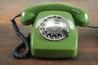 70er Vintage Post Telefon FeTAp 611-2 Wählscheibentelefon Retro grün 70s