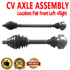 FRONT LEFT & RIGHT CV DRIVE AXLE SHAFT ASSEMBLY PAIR For AUDI VOLKSWAGEN