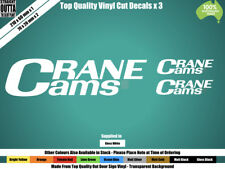 CRANE CAMS DECALS x 3 - OLD SCHOOL, HOT ROD - WHITE or COLOURS