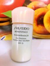 Shiseido BENEFIANCE Wrinkleresist24 Day Emulsion 45ml =15mlx3pcs Sample  (SPF15)