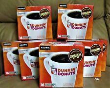 Variety lot of 8 Keurig , Dunkin Donuts Original Med. Roast   K-Pods.