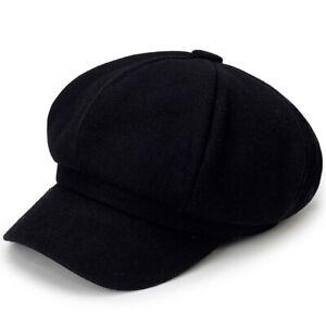 Artist Vintage Newsboy Cabbie Peaked Beret Cap Warm Baker Boy Visor Hat Flat Cap
