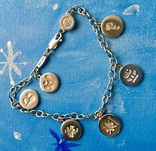 HISTORY of IRELAND Charm Bracelet Irish Sterling Silver (Magnetic clasp)     D-9