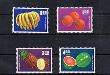 Stamps of Taiwan 1414-1417,MNH.Mi 536-539. Fruit 1964.Bananas,Oranges,Pineapple,