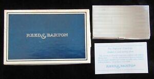 REED & BARTON DIPLOMAT STERLING BUSINESS CARD CASE ORIGINAL BOX NO MONOGRAM